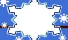 雪花背景模板图片
