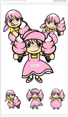 卡通雀斑女孩图片