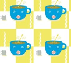 热咖啡底纹图片